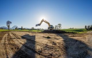 Baustart für die Zimmereihalle Amering