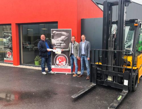 """SCHLÜSSELÜBERGABE – """"Neubau Büro und Lager Staplerprofiwelt GmbH"""""""
